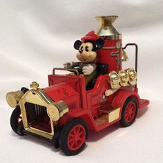 Vintage Disney Mickey Mouse Fire Truck.1984 Made in Japan with a © Walt Disney Productions.  Sold by DanushasCollectibles vintage Etsy Shop