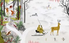 Nature Magazine // series on Darwin and his legacy around the world // illustration by Gracia Lam
