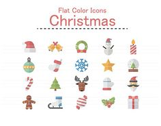 """Check out new work on my @Behance portfolio: """"Flat Color Icons Design Set of Christmas Icons."""" http://be.net/gallery/44000923/Flat-Color-Icons-Design-Set-of-Christmas-Icons"""