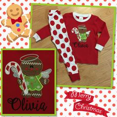 Christmas PJs for my sweet daughter!