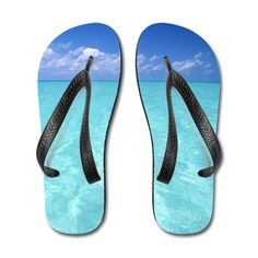 Sky And Ocean Flip Flops White/Black Flip Flops   SnapMade.com ($24) ❤ liked on Polyvore featuring shoes, sandals, flip flops, swim sandals, party shoes, summer shoes, white and black sandals and summer flip flops