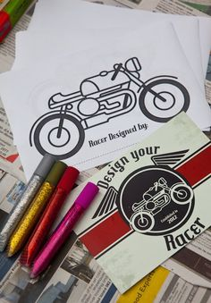 Vintage Motorcycle themed birthday party with So Many Cute Ideas via Kara's Party Ideas   Cake, decor, cupcakes, desserts, favors, games, an...