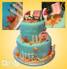 ZacO Cakes: Beach Themed Birthday Cake