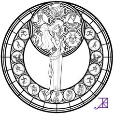 stained glass coloring pages KH Hercules Stainedglass WIP by