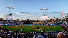 THINK BLUE: Ready for some dodger baseball!!! #dodgers #baseball #mlb #wednesday #mynight #family #friends #workhardplayhard #ballislife #herewego #losangeles #california #smile by rudy_2433