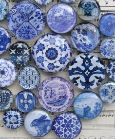 Delft Blue and White China Blue Transferware - #Delft #Blue #design