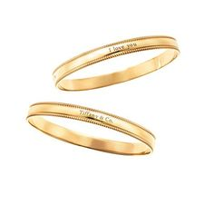 Tiffany Yours 'I Love You' and 'Tiffany & Co.' bangles in 18 karat gold Tiffany Bangle, Tiffany And Co Jewelry, Valentine Day Gifts, Valentines, Xmas, Gold Bangles, Jewelry Sets, Bracelet Watch, Navidad