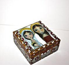 Sacred Family   Original Mixed Media Handmade by FlorLarios