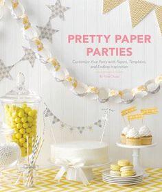 Mesa dulce, candy bar en blanco y amarillo