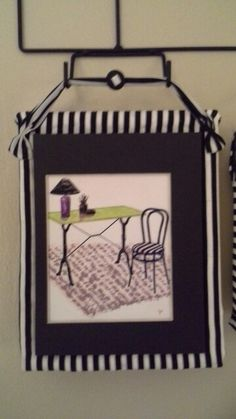 My pen & ink desk & chair with water colors