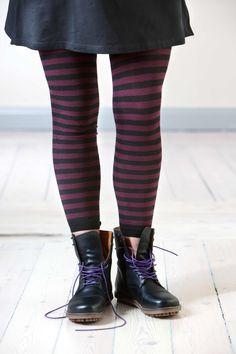 Gudrun Sjödéns Herbstkollektion 2014 - Die Schnürstiefel aus Leder sind in den Farben Siena, Moosbeere und Schwarz erhältlich.