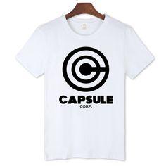 4d2155451ddfd2 Dragon Ball capsule corp High Quality Men Cotton T-shirt Short Sleeve  Cotton Teeshirt with Men tshirt Luxury Brand