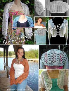 (4) Name: 'Crocheting : Hooked on Shrugs & Boleros - Ebook