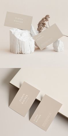 A light beige business card design template. Attract attention with a stylish design, perfect for beauty, fashion, and lifestyle businesses. Luxury Business Cards, Minimalist Business Cards, Business Card Mock Up, Business Card Design, Creative Business, Fashion Business Cards, Business Video, Collateral Design, Identity Design