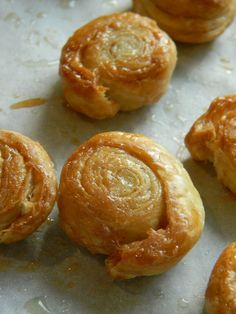 "Cinnamon-Sugar Puff Pastry Wheels recipe - "" They are super easy to make and are really great for an afternoon snack or if you're having someone over for coffee or tea."""