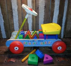 Vintage Antique 1964 60's Fisher-Price Creative by UrsMineNours