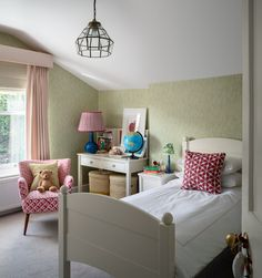 Georgian Townhouse, London Townhouse, Bedroom Office, Kids Bedroom, Attic Office, Girl Room, Design Projects, Home And Family, Interior Design