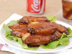 Alitas de pollo con salsa de Coca-Cola