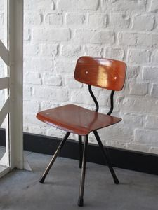Image of Chaise bois metal style scandinave