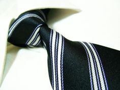 Towergem 100% Silk Tie For men Necktie Black « Clothing Impulse