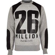 Grey 26 Million mesh panel sweatshirt £50.00 - that should be mine!