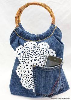 Bolso lindo de los pantalones vaqueros viejos. Foto MK .. Discusión sobre LiveInternet - Servicio de Rusia Diarios Online