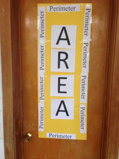 Display when teaching area and perimeter Math Lesson Plans, Math Lessons, Math Classroom, Classroom Posters, Classroom Displays, Classroom Ideas, Maths Display, Math Coach, Area And Perimeter