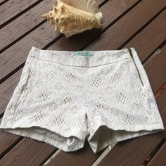 Judith March white lace shorts They are in perfect condition and very cute with anything you want to pair them with!! Side zipper. It is also lined. Judith March Shorts