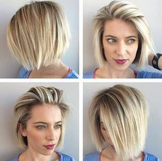 Casual Short Straight Blonde Hairstyles 2018 - Fashionre