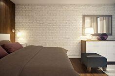 24 - quarto com parede de tijolos expostos