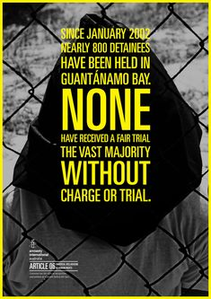 Amnesty International / Guantanamo Bay by Jon Olav Rolfsnes, via Behance