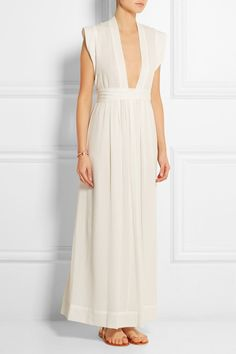 Pin for Later: The 3 White Dresses You Need For Your Wedding Weekend  Isabel Marant Sachi Voile Maxi Dress (£790)