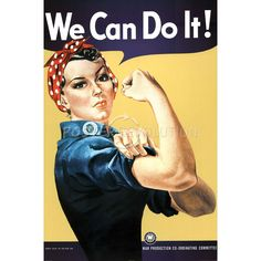 Rosie the Riveter (We Can Do It!) Art Poster
