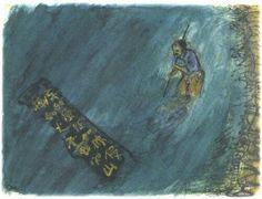 Akira Kurosawa painted storyboard for Kagemusha (1982) #AkiraKurosawa #Storyboard