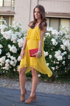 Dress c/o BCBGeneration, Bag Coach, Heels Banana Republic, Bracelets c/o Stella & Dot (here and here)