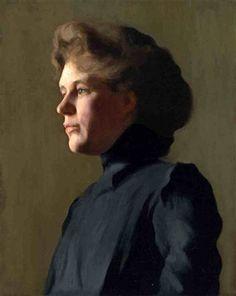 Portrait Of A Lady - Joseph Rodefer DeCamp (1858 – 1923)