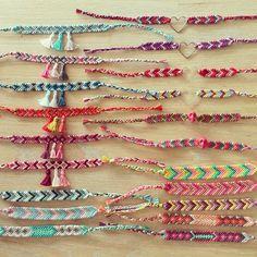 Handmade friendship bracelets Embroidery Floss Bracelets, Yarn Bracelets, Bracelet Knots, Bracelet Making, Handmade Friendship Bracelets, Friendship Bracelet Patterns, Handmade Bracelets, Handcrafted Jewelry, Jewelry Knots