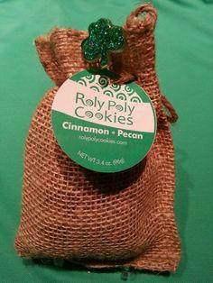 St. Patrick's  8 count cookies in burlap bags