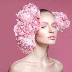 spring pink makeup look