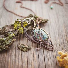 Wire Wrapped Owl Pendant
