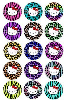 Hello kitty birthday party ideas on pinterest hello for Hello kitty cupcake topper template