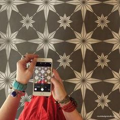 You're a Star Tile Stencil - Star Tile Stencils for Painting Floors or DIY Kitchen Backsplash – Royal Design Studio Stencils - Damask Wall Stencils, Moroccan Wall Stencils, Star Stencil, Tile Stencils, Large Stencils, Wallpaper Stencil, Stenciling, Bird Stencil, Wall Stencil Patterns