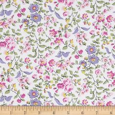 Michael Miller Veranda Sweet Vine Orchid from @fabricdotcom  Designed for Michael Miller, this cotton print fabric is perfect for quilting, apparel and home decor accents. Colors include black, lilac, white, shades of green, and shades of pink.
