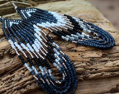 ~Brides Maid Native Style Seed Bead Earrings Bohemian Tribal Fringe Earrings Gypsy Chic Native American Jewelry~