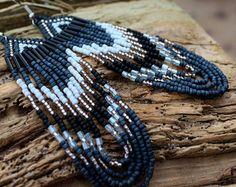 5Bohemian Seed Bead EarringNative American Style by NativeStyles