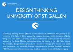 DESIGN THINKING      UNIVERSITY OF ST. GALLEN        DESIGN THINKING     UNIVERSITY OF ST. GALLENThe Design Thinking divis...