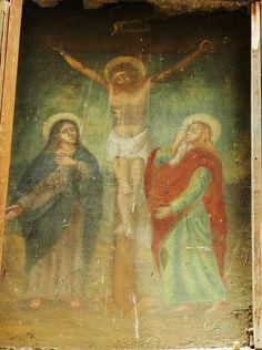 Palermo e dintorni antiche edicole votive del rione Zisa : via Parrocchia dei Tartari a Palermo -Santa vergine la Maddalena ai piedi di  Gesù Crocifisso
