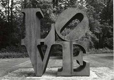Love, could be framed (art by Robert Indiana)