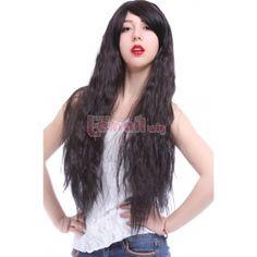 Long Rhapsody in Black Curly Wave Cosplay Hair Wigs - L-email Cosplay Wig Cheap Cosplay Wigs, Cosplay Hair, Long Curly, Hair Wigs, Wig Hairstyles, Waves, Long Hair Styles, Beauty, Black