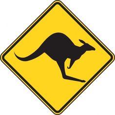 Children's room Kangaroo Crossing Sign Art Metal Prints by Marvin Blaine. Australia Animals, Australia Map, Australian Art, Free Vector Graphics, Warning Signs, Aboriginal Art, Online Art, Kangaroo, Art For Kids